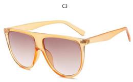 Glasses Female Titanium Australia - 2019 mikusama Thin Flat Top Sunglasses Women Luxury Designer Retro Vintage Sun Glasses Female Kim Kardashian Sunglasses Clear Glass 0166