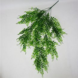 hanging decorative vines UK - Garden Office Green DIY Club Wall Hanging Artificial Plant Bar Fake Vine Decorative Living Room Home Plastic Leaves