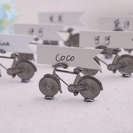 $enCountryForm.capitalKeyWord Australia - Metal Bicycle Place Card holder With Card Wedding Supplies Favors Party Gifts Table Decorations DHL Free Shipping