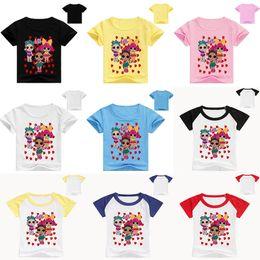 f3a98be3f 11 estilo LOL muñecas Ropa de niños Ropa de verano Ropa de bebé de dibujos  animados Impresión de moda para niños niña Trajes Niño de moda camiseta  muñeca de ...