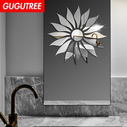 korean sun glasses Australia - Decorate Home 3D sun flower cartoon mirror art wall sticker decoration Decals mural painting Removable Decor Wallpaper G-442
