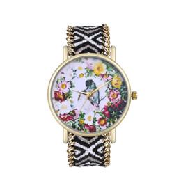 $enCountryForm.capitalKeyWord Australia - Luxury Mesh Woven Bracelet Watch Women Watches Fashion Vintage Printing Round Dial Quartz WristWatch Ladies Clock Relogio #B