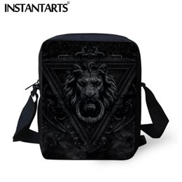 Gothic Handbags Australia - INSTANTARTS Cool Dark Gothic Style Printing  Crossbody Bag Brand Designer Travel Casual 6766152ae1a95
