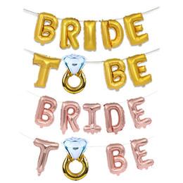 $enCountryForm.capitalKeyWord Australia - Rose Gold Pink Aluminum Film Balloon Diamond Ring Pattern Decorate Bachelorette Party Ornament BRIDE TO BE Letter 5 5mxb1