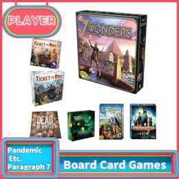 games etc 2019 - Board Card Games Pandemic 7 Wonders Carcassonne Dead Of Winter TICKET TO RIDE US  EU verion Etc. Paragraph 7