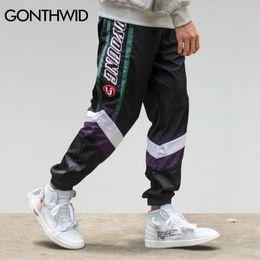 Block Fashion Men Australia - GONTHWID Color Block Patchwork Thin Joggers Harem Pants Men 2018 Harajuku Hip Hip Casual Male Trousers Fashion Streetwear Pants Y19060601