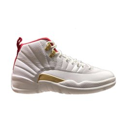 $enCountryForm.capitalKeyWord Australia - 12 FIBA Basketball Shoes white red 12s real carbon fiber TOP Factory Version high quality mens New 2019 Sneakers with box