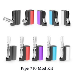 Mod Pipes Australia - Original Vapmod Pipe 710 Mod Kit 900mAh Adjustable Voltage Box Battery with 0.5ml Ceramic Coil Cartridge