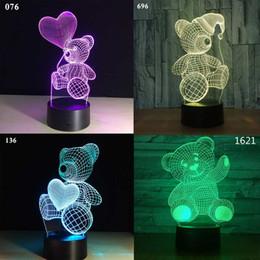 $enCountryForm.capitalKeyWord NZ - Cartoon Love Heart Bear Shape Table lamp USB LED 7 Colors Changing Battery Desk Lamp 3D Lamp Novelty Night Light Kid Children's day gift Toy