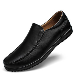 wide shoes sale Canada - Hot Sale-2019 Man Leisure Time Leather Shoes Set Foot Cowhide Business Affairs Male Shoe Will