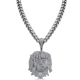 $enCountryForm.capitalKeyWord Australia - Hip Hop Necklaces Jewelry Grade Quality Big Size Platinum Plated Head Portrait Pendant Luxury Full Glaring Zircon Trendy Necklace LN068