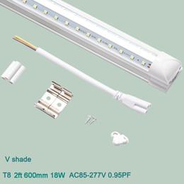 $enCountryForm.capitalKeyWord Australia - t8 LED Tube Light Integrated V shade Fluorescent Light 2ft 600mm Led Light 18W AC85-265V High Bright