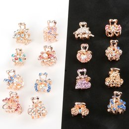 $enCountryForm.capitalKeyWord Australia - 1pc Crystal Rhinestone Flower Hair Claw Hairpins Ornaments butterfly clips Hairgrip for Kids Girl Hair Styling Accessories