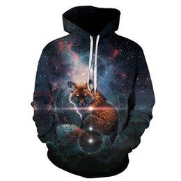 $enCountryForm.capitalKeyWord UK - Autumn winter hoodies men women print 3D fox hoodies pullover couples streetwear sweatshirts