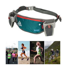 water bottle belt holder 2019 - Running Hydration Belt Bottle Holder Belt Reflective Running Water Fanny Pack Waist Packs with Two 170ml Water Bottle ch