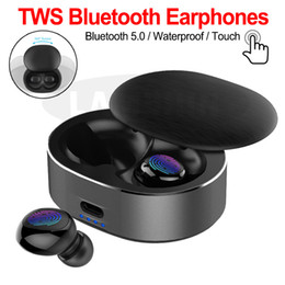 Wholesale types bluetooth headphone resale online - B20 Wireless Bluetooth Small Type Noise Reduction Headphones TWS In Ear Handsfree Headset Earphones With Retail Package