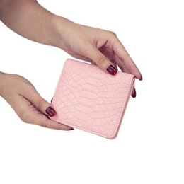 Discount double zipper card holder - Women Fashion Casual Short Wallet Solid Color Double Fold Card Holder Wallet Bag