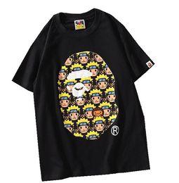 Chinese  pe Mens T Shirt Fashion Mens Designer Short Sleeves A Bathing Ape High Quality Cotton T Shirt Tees Size M-XXL manufacturers