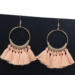 Fringe Gifts Australia - Bohemian Long Tassel Earrings For Women 2018 Fashion Jewelry Gold Color Pendientes Fringe Dangle Earrings Female Wedding Gift