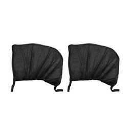mesh curtains UK - 2Pcs Flexible Auto Side Rear Window Sun Shade Mesh Curtain Car UV Protection Mesh Cover Mosquito Dust Protective Sleeve