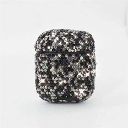 pouch for headphones UK - Glitter Diamond Case for airpod case Double Earbuds Headphone Anti-knock Protective for Apple air pod case Wireless Bluetooth Earphone Pouch