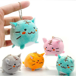 $enCountryForm.capitalKeyWord NZ - Color Random Kawaii 6CM Tiger Cat Plush Key chain DollL Plush Stuffed Toy Dolls Pendant TOY Wedding Bouquet Gift