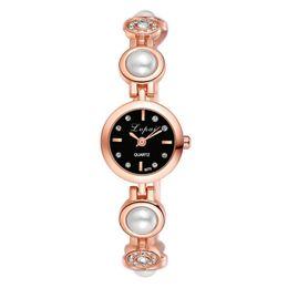 $enCountryForm.capitalKeyWord Australia - Hot Sales Rose Gold Pearl Bracelet Watches Women Ladies Fashion Crystal Dress Quartz Wristwatch Relojes Mujer