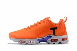 Tn Shoes UK - Promotion 2019 cheap Mens Women Mercurial Plus Tn Ultra SE Black White OrangeOlive jogging shoes sport Women Camouflage shoes