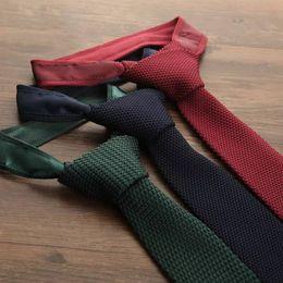 "$enCountryForm.capitalKeyWord Australia - wholesale Original Skinny Knitted Plain Tie 2.3"" Slim Soild Handmade High Quality Youth Necktie Woven wool Knit Neck Tie For"