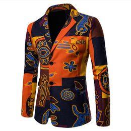 $enCountryForm.capitalKeyWord Australia - Spring and Autumn Men's Suit New Long-sleeved Lapel Single Row Buckle Evening Dress Mixed Cotton Cartoon Color Suit Coat