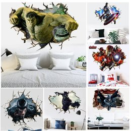 Avengers Wall Posters NZ - The Avengers Super Heroes Wall Stickers Kids Cartoon Hulk Captain America Iron Man Venom Posters for Children Room Wallpaper Art Decals