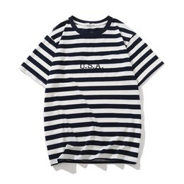 $enCountryForm.capitalKeyWord Australia - Jeans USA Mens Striped T shirts Summer Fashion Embroidery Designer Tees Short Sleeved Tops Clothes