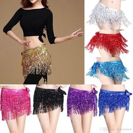 $enCountryForm.capitalKeyWord Australia - Belly Dance Dancer Costume Shine Sequins Tassel Fringe Hip Scarf Belt Waist Wrap Skirt Dancing Costume
