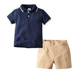 Best Wholesale T Shirts Australia - New Summer Boys Clothing Sets kids designer clothes boys suits Fashion Kids Sets short-sleeved T-shirt+Shorts Pants Best Suits A4544
