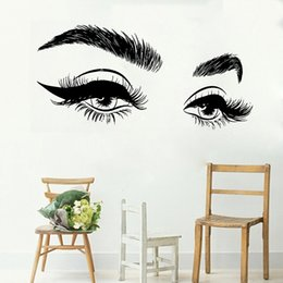 eyebrow stickers Australia - Hot Selling Beautiful Eyelashes Eye Wall Sticker Decal Vinyl Girls Eyes Eyebrows Wall Decals Modern Home Decor Art Salon