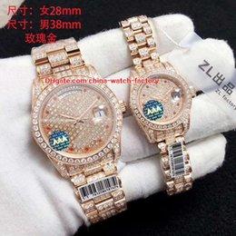 Ladies Gems Australia - 6 Style Best Quality 41mm 31mm Day-Date II Full Diamond Bezel Bracelet Swiss ETA 2836 Movement Automatic Ladies Watch Women's Mens Watches