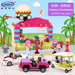 Block Stores Australia - XINGBAO 12012 New 734Pcs City Girls Series The School Convenience Store Set Building Blocks Bricks Educational Kid Toys Gifts