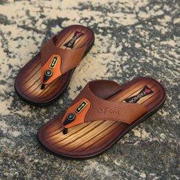 $enCountryForm.capitalKeyWord Australia - new Europe designer sandals Leather flip-flops causal Non-slip summer huaraches slippers flip flops slippers summer outdoor beach slippers