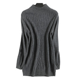 China Spring Women Cashmere Wool Sweater Female Turtleneck Thick Sweater Slim Pullovers Wool Knitted Cable New Arrival 2019 cheap cashmere cable knit suppliers