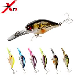bait lip Canada - Sports & Entertainment XTS Fishing Lure Artificial Hard Bait Crankbait Wobblers 50mm 5g Slow Sinking Minnow Lures With Colorful Lip Fishing
