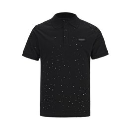 0475dd3b3 2019 The latest and the most men's men's clothing Korean version of the  slim T-shirt Snowflake little famous designer