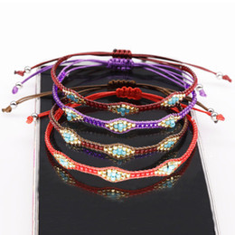 Anklets new designs online shopping - 2019 New Design Fashion Seed Beads Bracelet Adjustable Strap Handmade Rope Bracelets Anklet Boho Style For Party Beach Favors M579Y