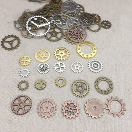 pendants grams Australia - 50 Gram Durable DIY Clock Pendant Crafts Alloy Jewelry Accessories Wheels Steampunk Gears Mix Styles Assorted Parts