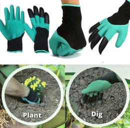 hot normal women 2019 - Gardening Gloves for Garden Digging Planting with 4 ABS Plastic Claws Garden Working Accessories Hot Selling New cheap h