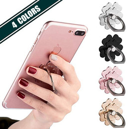 apple cell phone finger holder UK - Lucky flower Cell Phone Ring Stand Finger Ring Holder 360° Rotation Phone Holder Ring Grip Compatible With Apple iPhone Xs Max XR X 8 7 Plu