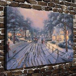 $enCountryForm.capitalKeyWord Australia - Hometown Christmas Memories,Home Decor HD Printed Modern Art Painting on Canvas (Unframed Framed)