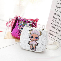 Wholesale Sequin Kids Toys designer handbags lol dolls hangbag cm girls cartoon storage bags Backpacks hop pocket christmas gifts bags