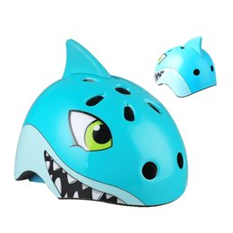 $enCountryForm.capitalKeyWord Australia - Kids Bicycle Helmets Children City Road Bicycle Kid Headpiece For Outdoor Sports Riding Skating 3D Cartoon Shark Helmets