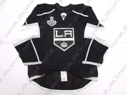 Quick Cup Australia - Cheap custom LOS ANGELES KINGS HOME TEAM ISSUED 2014 STANLEY CUP JERSEY stitch add any number any name Mens Hockey Jersey XS-5XL