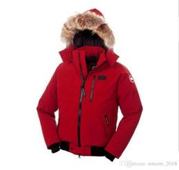 Cheap Men Parkas Australia - Fashion Winter Down Hooded Bomber Parka Jackets Green Zippers Jacket Men Warm Canada Coat Outdoor Coats Cheap Sale